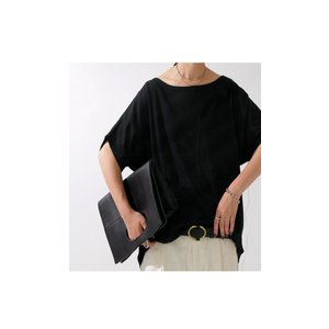 ドルマンTシャツ 半袖 トップス レディース 五分丈 無地 大きいサイズ ゆったり カットソー・2月26日20時〜発売。50ptメール便可|antiqua|17