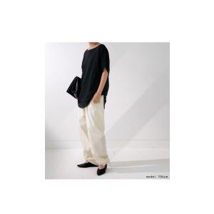 ドルマンTシャツ 半袖 トップス レディース 五分丈 無地 大きいサイズ ゆったり カットソー・2月26日20時〜発売。50ptメール便可|antiqua|18