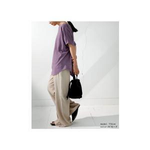 ドルマンTシャツ 半袖 トップス レディース 五分丈 無地 大きいサイズ ゆったり カットソー・2月26日20時〜発売。50ptメール便可|antiqua|09