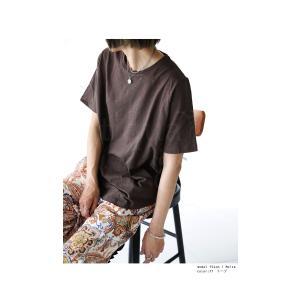 トップス Tシャツ レディース 半袖 綿 綿100 カットソー スラブトップス・4月25日20時〜発売。80ptメール便可|antiqua|20