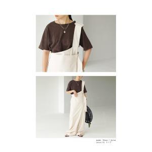 トップス Tシャツ レディース 半袖 綿 綿100 カットソー スラブトップス・4月25日20時〜発売。80ptメール便可|antiqua|21