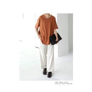 トップス Tシャツ レディース 半袖 綿 綿100 カットソー スラブトップス・4月25日20時〜発売。80ptメール便可|antiqua|05