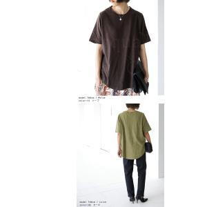 トップス Tシャツ レディース 半袖 綿 綿100 カットソー スラブトップス・4月25日20時〜発売。80ptメール便可|antiqua|06
