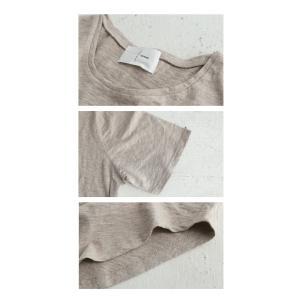 トップス Tシャツ レディース 半袖 綿 綿100 カットソー スラブトップス・4月25日20時〜発売。80ptメール便可|antiqua|09