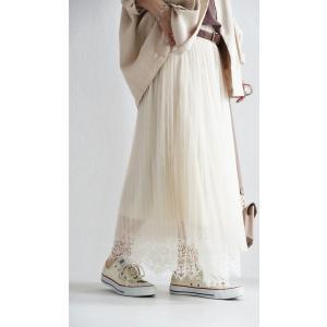 ボトムス スカート チュール モード レースチュールスカート・2月9日20時〜発売。##メール便不可|antiqua|14
