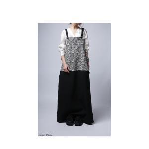 otonaが選ぶサロペstyle。ジャガード柄サロペスカート・再再販。サロペット 「G」##メール便不可|antiqua|07