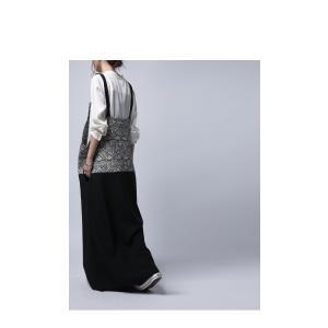 otonaが選ぶサロペstyle。ジャガード柄サロペスカート・再再販。サロペット 「G」##メール便不可|antiqua|09