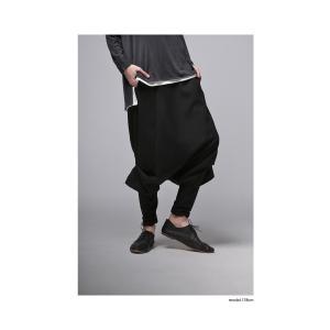 穿くだけで即お洒落が完成する。レイヤードサルエルパンツ・再再販。##メール便不可|antiqua|04