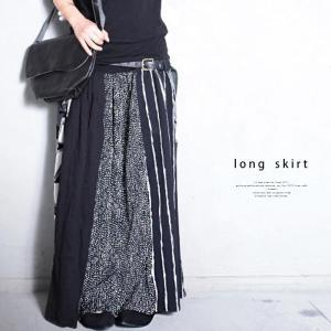 大人気の切替えスカートに新作登場。柄切替えロングスカート・1月12日20時〜再再販。##メール便不可|antiqua|11