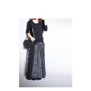 大人気の切替えスカートに新作登場。柄切替えロングスカート・1月12日20時〜再再販。##メール便不可|antiqua|07