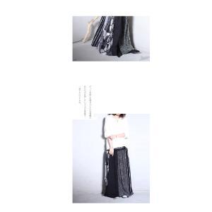 大人気の切替えスカートに新作登場。柄切替えロングスカート・1月12日20時〜再再販。##メール便不可|antiqua|09