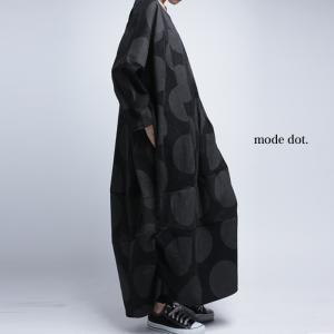 ワンピース サロペ 水玉 ドット モード ビッグドットワンピ・12月12日20時〜発売。##メール便不可|antiqua