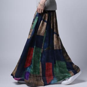 レディース ボトムス スカート ロング 柄 アート柄スカート・3月16日20時〜再販。##メール便不可|antiqua