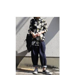 トップス レディース シャツ 長袖 花柄 紫陽花 アジサイ 花柄シャツ・再販。80ptメール便可|antiqua|08