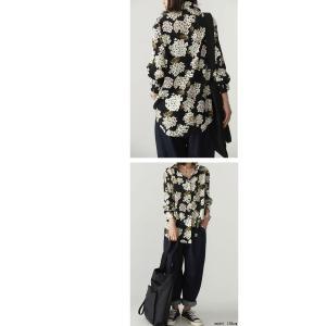 トップス レディース シャツ 長袖 花柄 紫陽花 アジサイ 花柄シャツ・再販。80ptメール便可|antiqua|09