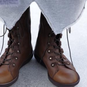 靴 ブーツ 本革 レースアップ 日本製 本革デザインブーツ・再販。##メール便不可|antiqua