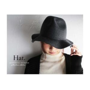 カッコよさに磨きをかけて。デザイン中折れハット・再再販。帽子 シンプル##「G」メール便不可|antiqua