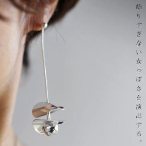 アクセ ピアス シルバー ロング モード ロングチェーンモチーフピアス・20時〜(30)メール便可|antiqua