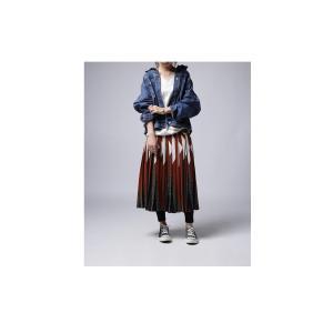 ボトムス スカート プリーツ レオパード プリーツミディスカート・1月12日20時〜発売。##メール便不可|antiqua|11