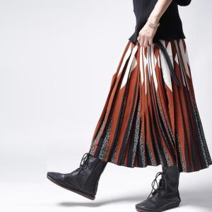 ボトムス スカート プリーツ レオパード プリーツミディスカート・1月12日20時〜発売。##メール便不可|antiqua|13