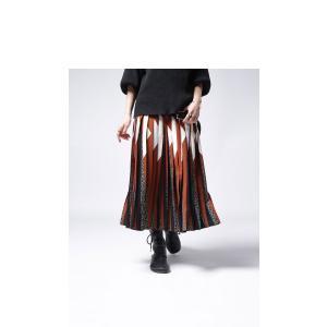 ボトムス スカート プリーツ レオパード プリーツミディスカート・1月12日20時〜発売。##メール便不可|antiqua|03