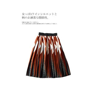 ボトムス スカート プリーツ レオパード プリーツミディスカート・1月12日20時〜発売。##メール便不可|antiqua|05