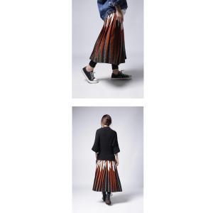 ボトムス スカート プリーツ レオパード プリーツミディスカート・1月12日20時〜発売。##メール便不可|antiqua|09