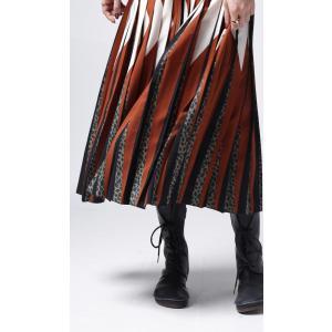 ボトムス スカート プリーツ レオパード プリーツミディスカート・1月12日20時〜発売。##メール便不可|antiqua|10