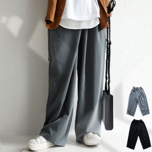 ボトムス パンツ ワイド アシンメトリー タックワイドパンツ・2月6日20時〜発売。##メール便不可|antiqua