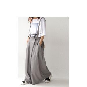 サロペット ワンピース サロペワンピ ボトムス スカート 2wayサロペスカート・##メール便不可|antiqua|14