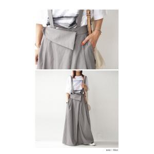 サロペット ワンピース サロペワンピ ボトムス スカート 2wayサロペスカート・##メール便不可|antiqua|04