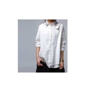 レディース トップス シャツ アシンメトリー レイヤード風アシメシャツ・2月23日20時〜発売。##メール便不可|antiqua|18