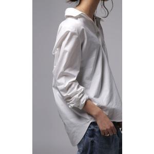 レディース トップス シャツ アシンメトリー レイヤード風アシメシャツ・2月23日20時〜発売。##メール便不可|antiqua|20