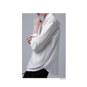 レディース トップス シャツ アシンメトリー レイヤード風アシメシャツ・2月23日20時〜発売。##メール便不可|antiqua|04