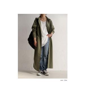ワンピース 長袖 シャツ ロング 綿 綿100% 羽織り ロングシャツワンピ・##メール便不可 antiqua 13