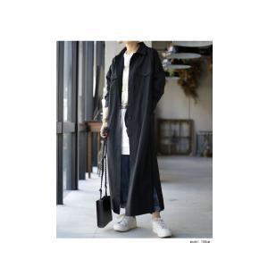 ワンピース 長袖 シャツ ロング 綿 綿100% 羽織り ロングシャツワンピ・##メール便不可 antiqua 03