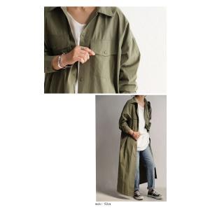 ワンピース 長袖 シャツ ロング 綿 綿100% 羽織り ロングシャツワンピ・##メール便不可 antiqua 04