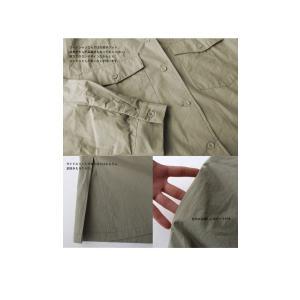 ワンピース 長袖 シャツ ロング 綿 綿100% 羽織り ロングシャツワンピ・##メール便不可 antiqua 07