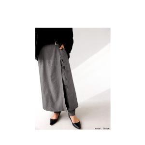 ボトムス パンツ レディース ロング スカート ジョッパーズ レイヤードパンツ・1月15日20時〜再販。##メール便不可|antiqua|15