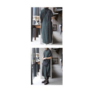 ワンピース 五分袖 七分袖 レディース シャツワンピース ロングシャツワンピ・6月15日20時〜発売。##メール便不可|antiqua|09