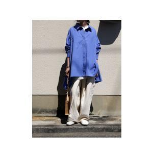 BIGバーゲン!期間限定開催!トップス シャツ 長袖 レディース 綿 ワイド 変形フレアシャツ・再販。メール便不可(返品・キャンセル・交換不可)|antiqua|08