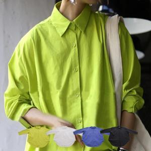 トップス シャツ 長袖 レディース 綿 綿100% 綿タックシャツ・6月13日20時〜再再販。100ptメール便可|antiqua