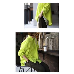 トップス シャツ 長袖 レディース 綿 綿100% 綿タックシャツ・6月13日20時〜再再販。100ptメール便可|antiqua|11