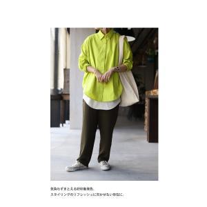 トップス シャツ 長袖 レディース 綿 綿100% 綿タックシャツ・6月13日20時〜再再販。100ptメール便可|antiqua|12