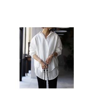 トップス シャツ 長袖 レディース 綿 綿100% 綿タックシャツ・6月13日20時〜再再販。100ptメール便可|antiqua|13
