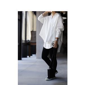 トップス シャツ 長袖 レディース 綿 綿100% 綿タックシャツ・6月13日20時〜再再販。100ptメール便可|antiqua|15