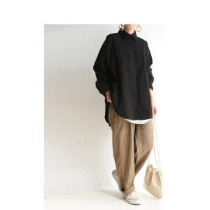 トップス シャツ 長袖 レディース 綿 綿100% 綿タックシャツ・6月13日20時〜再再販。100ptメール便可|antiqua|18