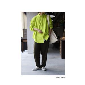 トップス シャツ 長袖 レディース 綿 綿100% 綿タックシャツ・6月13日20時〜再再販。100ptメール便可|antiqua|06
