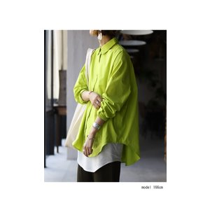 トップス シャツ 長袖 レディース 綿 綿100% 綿タックシャツ・6月13日20時〜再再販。100ptメール便可|antiqua|10