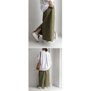 ボトムス スカート ロング レディース 綿100% ボタンデザインスカート・10月2日20時〜再販。「G」##メール便不可|antiqua|11